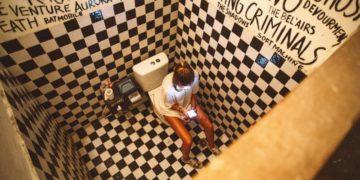Gemütliches WC für die Gäste